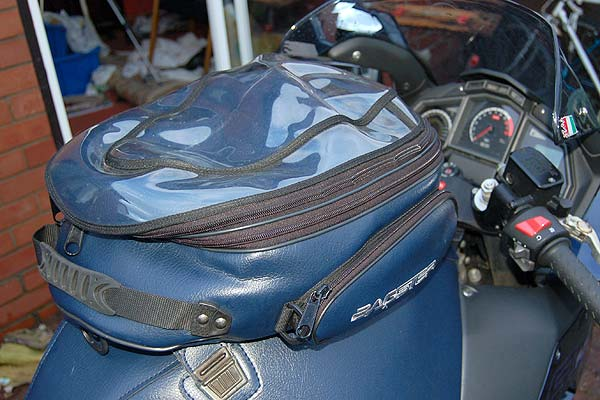 Tank bags: Bagster cover with Alpha bag